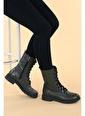 Ayakland Ayakland N901-01 Cilt Termo Taban Kadın Bot Ayakkabı Yeşil
